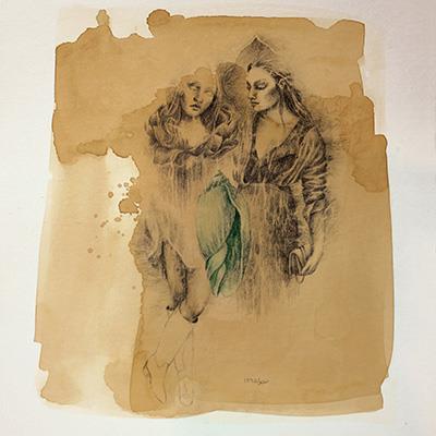 نجوا عرفانی | 35 × 40 سانتیمتر | 1395 | قیمت 700,000 تومان، با 30% تخفیف در نمایشگاه شبتاب 500,000 تومان