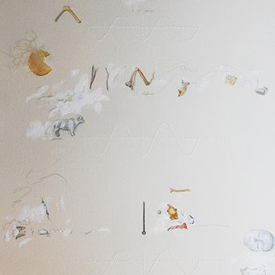 شهلا حسینی | ترکیب مواد روی کاغذ | 56 × 76 سانتیمتر | قیمت 10,000,000 تومان، با 30% تخفیف در نمایشگاه شبتاب 7,000,000 تومان