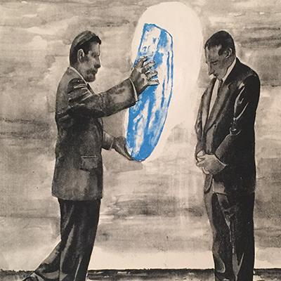 نیکزاد نجومی | چاپ سیلک | 56 × 76 سانتیمتر | نسخه 9 | قیمت 4,000,000 تومان، با 30% تخفیف در نمایشگاه شبتاب 2,800,000 تومان  - فروخته شد