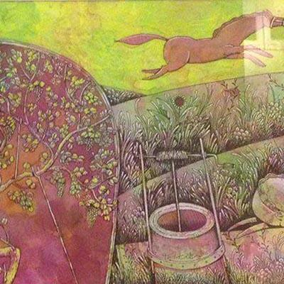Kamal Tabatabaei | Mixed Media on Paper | 23 X 45 cm | 2014 | 1,800,000 T, %30 discount for Firefly (1,200,000 T)  - Sold