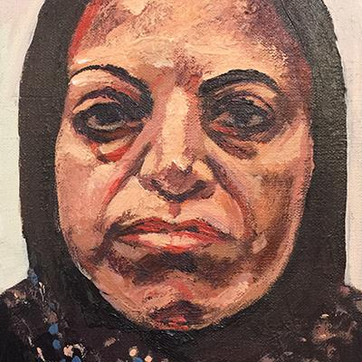 Ahmad Morshedloo | Oil on Canvas | 18 X 13 cm | 2015 |  1,000,000 T, %30 discount for Firefly (700,000 T)  - Sold