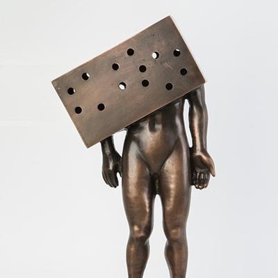 قدرت عاقلی | برنز | 43 × 11 × 19 سانتیمتر | 1395 | نسخه 1 از 3 | قیمت 11,000,000 تومان، تخفیف در نمایشگاه شبتاب 7,700,000 تومان