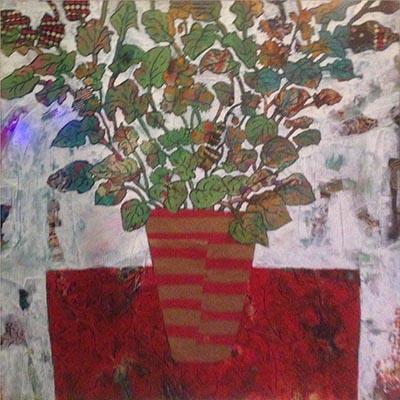 مرجان ثابتی | ترکیب مواد روی بوم | 40 × 40 سانتیمتر | 1393 | قیمت 400,000 تومان  - فروخته شد