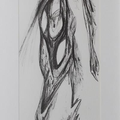 فرهاد گاوزن | مداد روی کاغذ | 17 × 49 سانتیمتر | قیمت 1,500,000 تومان