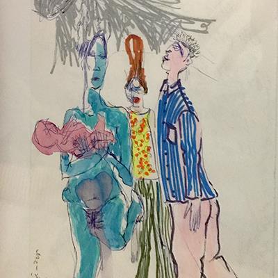 بیتا فیاضی | آبرنگ و ماژیک روی کاغذ | 14 × 22 سانتیمتر | قیمت 3,000,000 تومان، با 30% تخفیف در نمایشگاه شبتاب 2,100,000 تومان