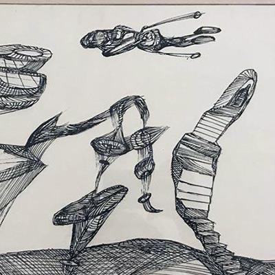 فرشید ملکی | مرکب روی بوم | 41 × 29 سانتیمتر | 1380 | قیمت 3,000,000 تومان، با 30% تخفیف در نمایشگاه شبتاب 2,100,000 تومان - فروخته شد