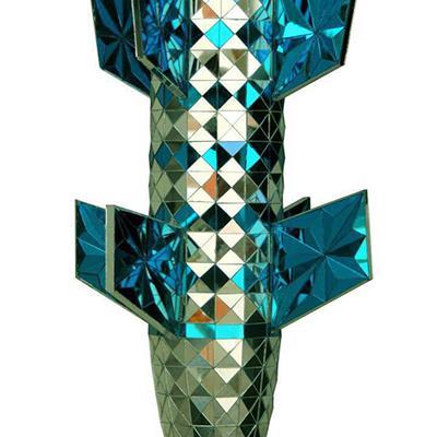 مهدی نبوی | برش آیینه روی چوب | 40 × 40 × 60 سانتیمتر | 1393 | قیمت 3,000,000 تومان، با 30% تخفیف در نمایشگاه شبتاب 2,100,000 تومان