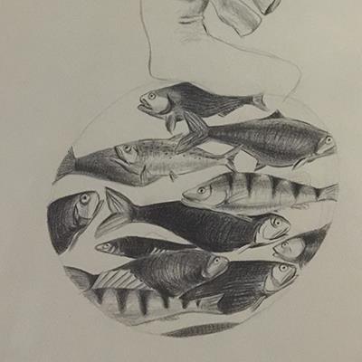مینا محسنی | مداد روی کاغذ | 31.5 × 46.5 سانتیمتر | 1393 | قیمت 1,000,000 تومان، با 30% تخفیف در نمایشگاه شبتاب 700,000 تومان