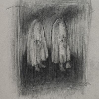 Samira Shakeri | Charcoal on Paper | 44 X 35 cm | 2016 | 650,000  - Sold