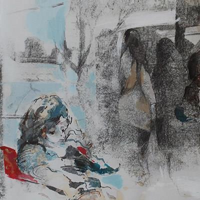 سارا قنبری | ترکیب مواد روی کاغذ | 50 × 30 سانتیمتر | 1389 | قیمت 550,000 تومان، تخفیف در نمایشگاه شبتاب 380,000 تومان
