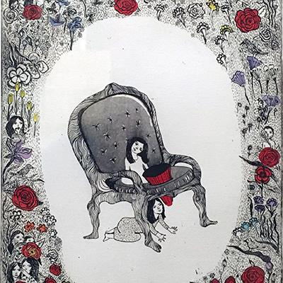 Maneli Aygani | Etching | 30 X 25 cm | 2012 | Ed. 1 of 5 | 1,500,000 T, %30 discount for Firefly (1,050,000 T)  - Sold