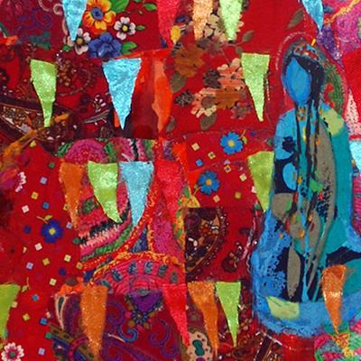 آنهمحمد تاتاری | کلاژ روی پارچه | 40 × 50 سانتیمتر | قیمت 2,500,000 تومان، تخفیف در نمایشگاه شبتاب 1,800,000 تومان
