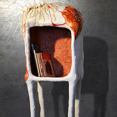Untitled | Paper Mache | 55 X 40 X 130 cm