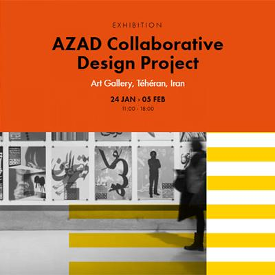 AZAD Collaborative Design Project at Graphic Design Festival 2017, Paris