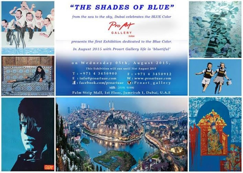 The Exhibition: Shades of Blue, in ProArt Gallery, Dubai